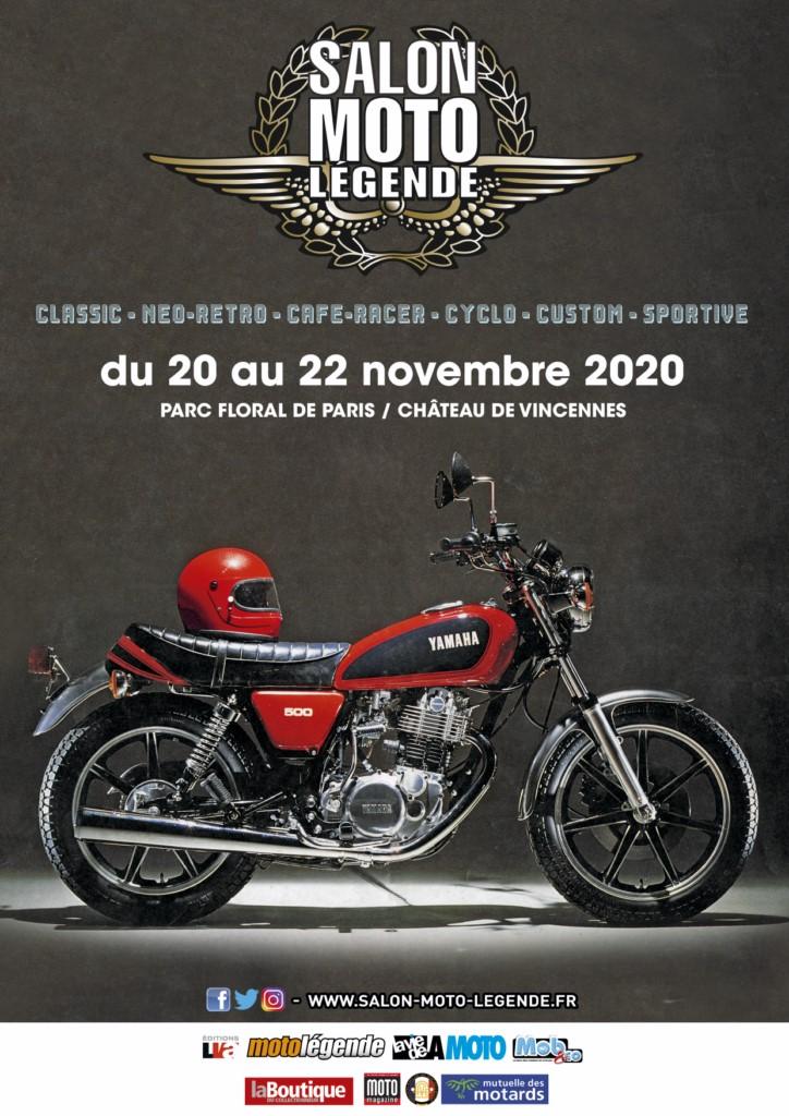 L'affiche du Salon Moto Légende 2020
